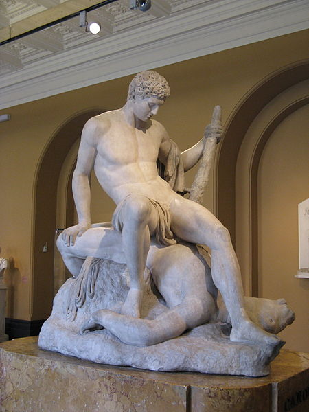 Archivo: Antonio Canova-Teseo y el Minotauro-Victoria y Albert Museum.jpg