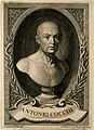 Antonio Cocchi. Line engraving by V. Rossi, 1758, after L. F Wellcome V0001169.jpg