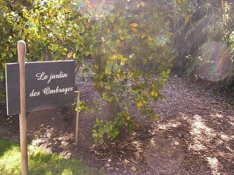 """Panneau """"Jardin des Ombrages"""" à l'Arboretum Gaston Allard à Angers"""