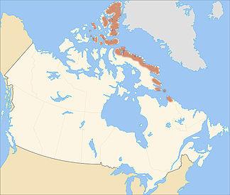 Lage der Arktischen Kordillere