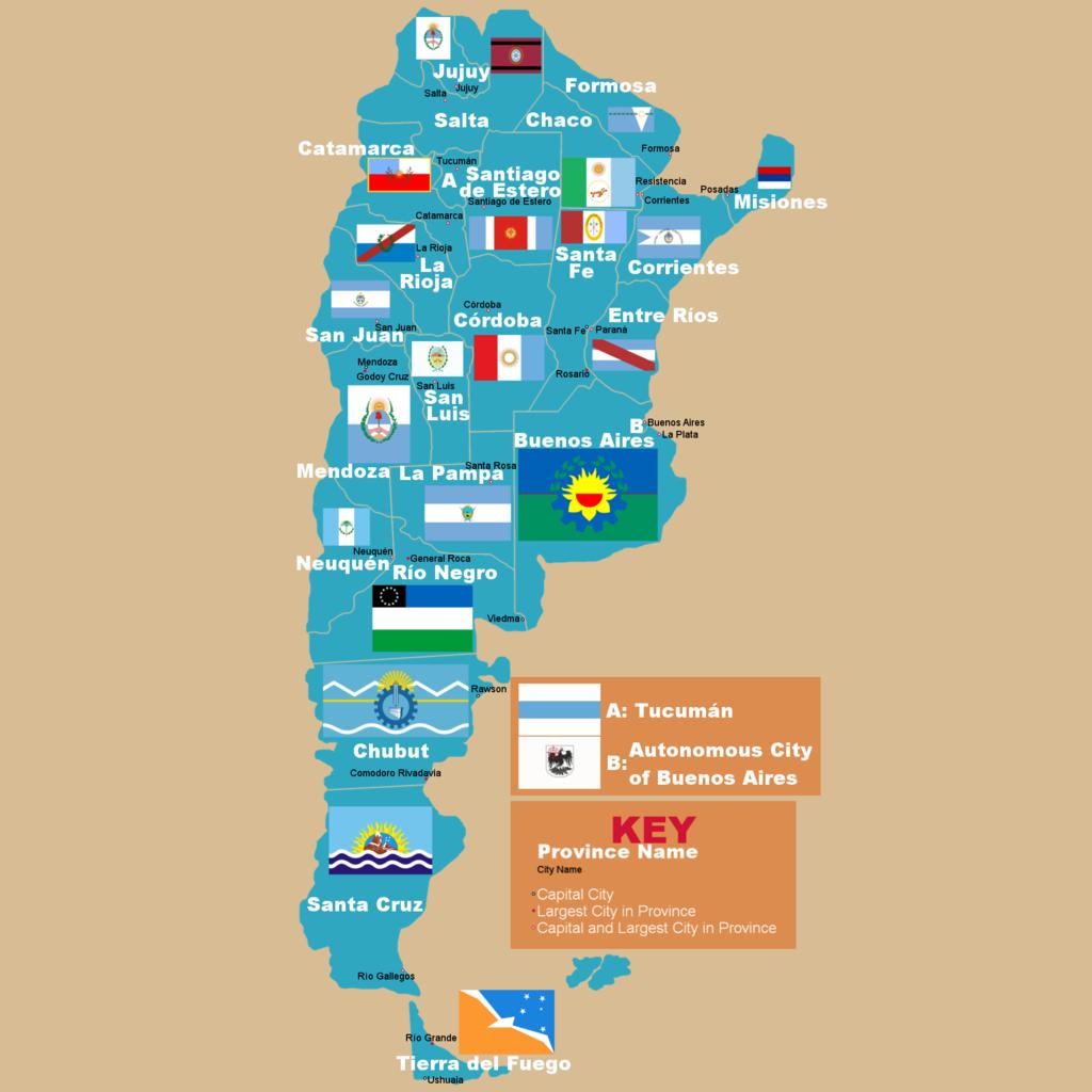 Pembagian wilayah administratif Argentina