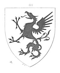 A heraldic griffin, from Dictionnaire raisonné de l'architecture française du XIe au XVIe siècle by Eugène Viollet-Le-Duc (1856)