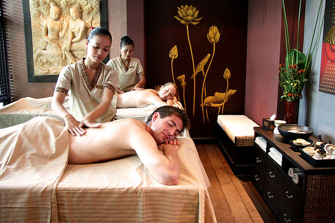 A specially created massage combining techniqu...