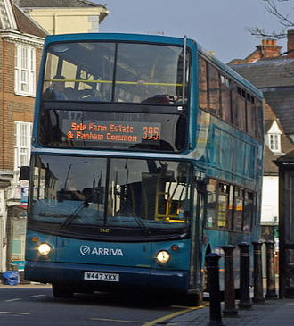 Arriva Shires & Essex - Alexander ALX400 bodied Dennis Trident 2 in Hertford on 28 March 2011