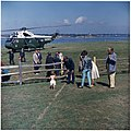 Arrival of President at Hammersmith Farm. President Kennedy, John F. Kennedy, Jr., Hugh D. Auchincloss, Assistant... - NARA - 194212.jpg