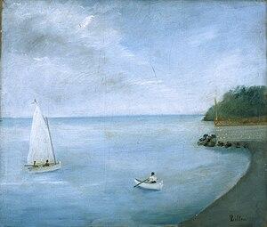 Umberto Lilloni - Tramonto sul mare o Paesaggio di Lavagna, 1934 ca. (Fondazione Cariplo)