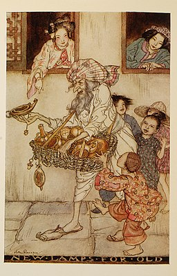 Arthur-Rackham-Aladdin-New-lamps-for-old