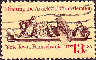 Articles of Confederation - Articles of Confederation 200th Anniversary commemorative stamp.First issued in York, Pennsylvania., 1977