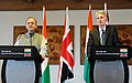 Arun Jaitley and the U.K. Chancellor of Exchequer, Mr. Philip Hammond addressing a joint press conference, after the Economic and Financial Dialogue between India and U.K., in New Delhi.jpg