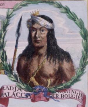 Arung Palakka - Arung Palakka, in The Conquest of Macassar, a 1669 painting by Romeyn de Hooghe