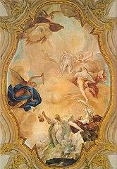 Ascesa al cielo di un'anima purgata per intercessione della Carità, per i suffragi della Fede e grazie alla Preghiera