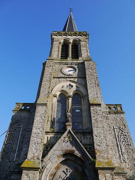 Le clocher de l'église Saint-Thuribe.