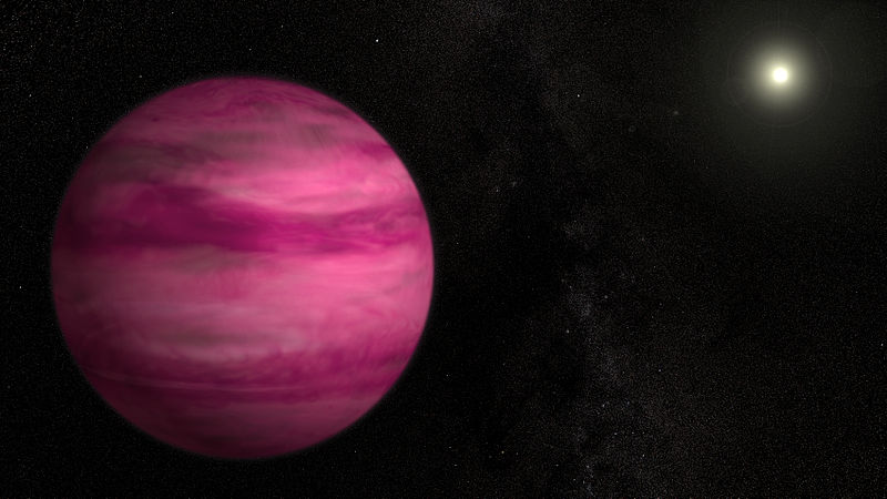 800px Astronomers Image Lowest mass Exoplanet Around a Sun like Star 日本のすばる望遠鏡がピンク色の星、GJ 504bを観測
