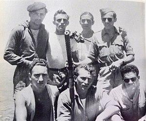 Altalena Affair - Some of the crew of the Altalena. Bottom row center is Captain Monroe Fein.