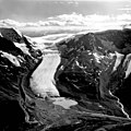 Athabasca Glacier, Calving Glacier Terminus and Side Valley Glacier, August 21, 1964 (GLACIERS 1666).jpg
