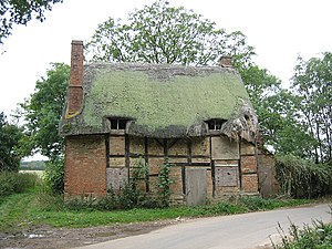 Atherstone on Stour - 17th-century Cutlin Mill Cottage derelict in 2005. It burnt down in 2010.