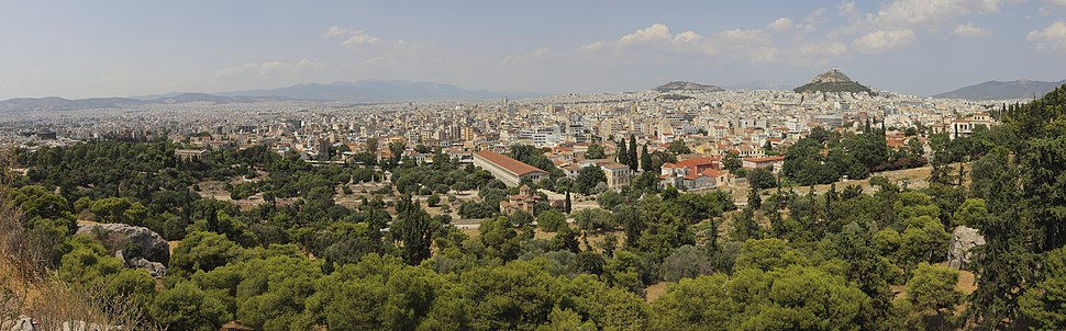 Attica 06-13 Athens 20 View from Acropolis Hill - pano