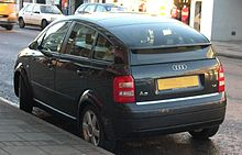 audi a2 wikipedia wolna encyklopedia. Black Bedroom Furniture Sets. Home Design Ideas