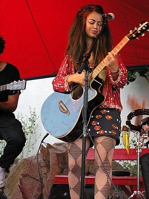 Aura Dione - Dione onstage in Allinge, Bornholm, Denmark 26 July 2010