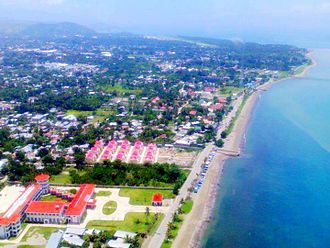 Dili - Suco of Fatuhada, in Dili. East Timor´s Ministry of External Affairs building can be seen on the left corner