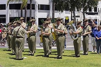 Australian Army Band Corps - Image: Australian Army Band Kapooka at the Centenary of the Kangaroo March commemoration ceremony (1)