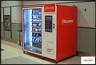 Automated retail - The Source Automated Retail Kiosk Dispensing Electronics at the International Airport By Signifi Solutions Inc.