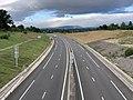 Autoroute A406 vue depuis Pont Route D1079 Crottet 7.jpg