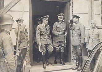 Military history of Bulgaria during World War II - German Wehrmacht officers in Bulgaria in 1939.