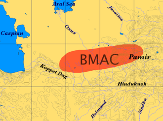 Bactria–Margiana Archaeological Complex - The extent of the BMAC (according to the Encyclopedia of Indo-European Culture)