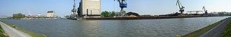 Mittelland Canal - Panorama of the port of Braunschweig on the Mittelland Canal at Watenbüttel, Braunschweig