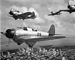 BT-1 dive bombers flying over Miami during WWII.jpg