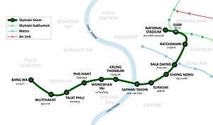 Silom Line - Route map