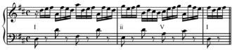 Ii–V–I progression - Image: Bach WTC I, Prelude in D Major ii V I