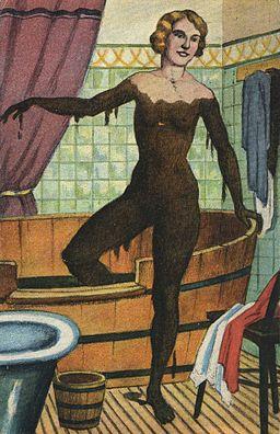 Badende Frau Moorbad 1927
