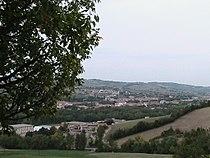 Badia Cavana (Lesignano de' Bagni) - Panorama verso la pianura.JPG