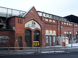 Entrance building of the S-Bahn station