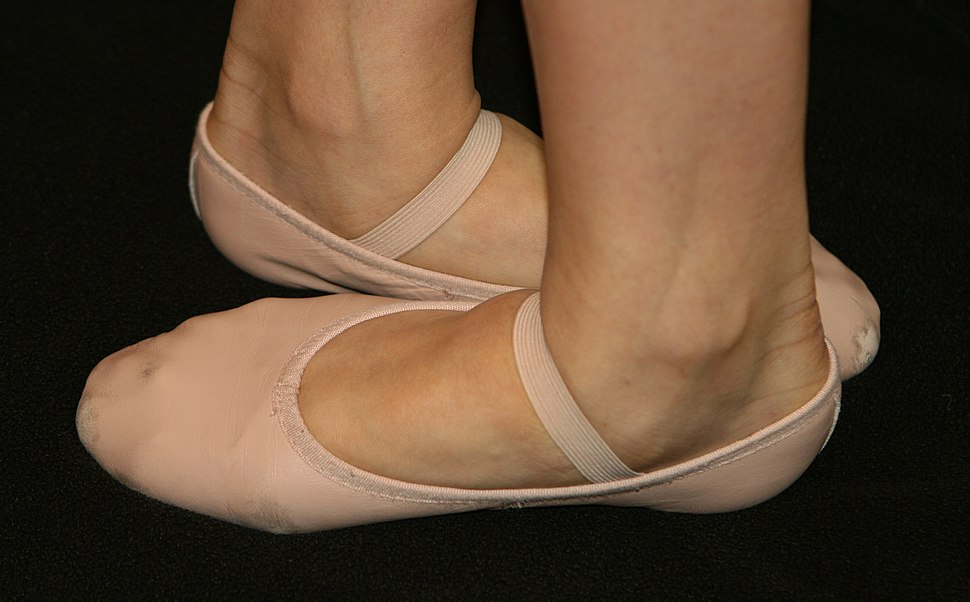 Ballet shoes in fifth position