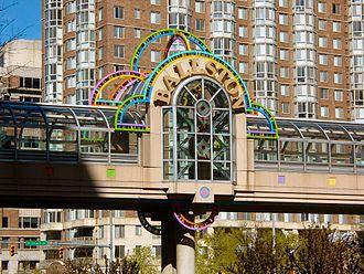 Ballston, Arlington, Virginia - Pedestrian bridge over Wilson Boulevard.