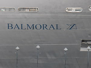 Balmoral Name of ship 7 July 2012 Tallinn.JPG