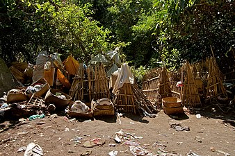 Bamboo cages for the deceased in Trunyan, Bali.jpg
