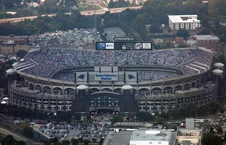 Bank of America Stadium, home to the Carolina Panthers of the NFL Bank of America Stadium.jpg