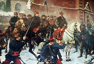 "Battle of Bapaume (1871) - Part of the panoramic painting ""Battle of Bapaume"" of Charles Édouard Armand-Dumaresq showing General Faidherbe."