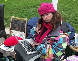 Barbara Grace Tucker - Tucker in London's Parliament Square, March 2012