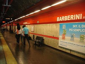 Barberini – Fontana di Trevi (Rome Metro) - Image: Barberini Metropolitana di Roma