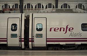 Alaris - RENFE Class 490 in Barcelona França railway station.