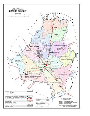 Bareilly - Map of Bareilly District