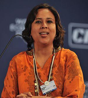 Barkha Dutt - Dutt at the World Economic Forum, 2010.