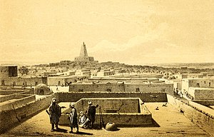 Timbuktu - View of Timbuktu, Heinrich Barth (1858)