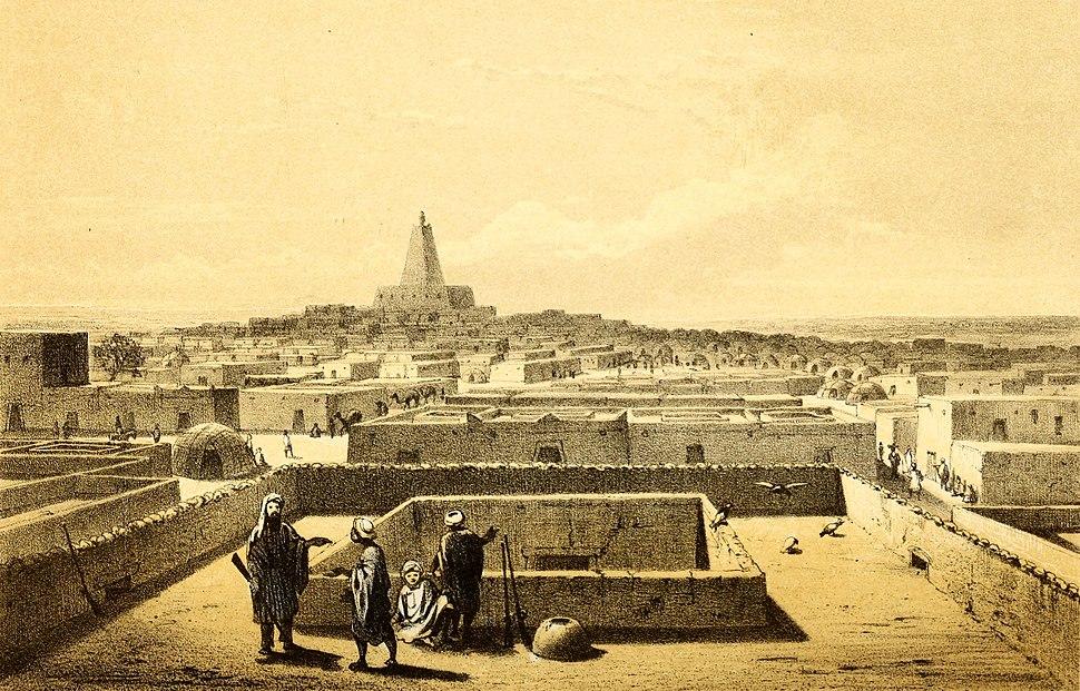 Barth 1858 Timbuktu from terrace