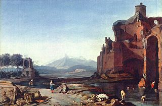 Italian Landscape with the Aurelian Wall